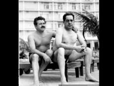 Luis Hernández Parker (izquierda) con Tito Mundt en La Habana, 1959