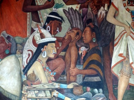 Alguna nostalgias de am rica latina sitiocero for Diego rivera la conquista mural