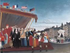 Los representantes del poder extranjero saludan a la República como acto de Paz Henri Rousseau 1907