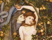 La tentación de Eva (detalle) John Roddam Spencer 1829 - 1908