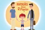 Portada del libro Nicolás tiene dos papás