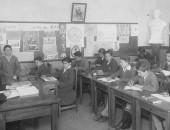 Alumnos en clases 1930 - Imagen de Museo de la Educación, Chile