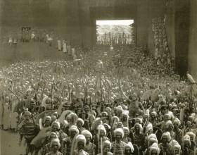 'Intolerancia' (1916) Una espectacular imagen del episodio de Babilonia, de la película 'Intolerancia', de David W. Griffith.