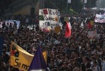 Movilización en Santiago. Cortesía de la Fech