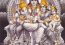 Ganesh, Shiva, Parvati, Karthikeya