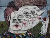 Cuatro mujeres.Graffiti
