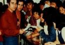 Los Prisioneros en Calama en 1990, como parte la promoción de Corazones. - Fotografía Juan Avalos M.