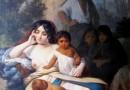 Elisa Bravo en cautiverio de Raymond Monvoisin.1858.
