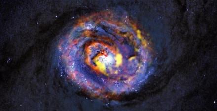 Composición de una galaxia. Foto de ALMA
