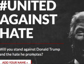 Pantallazo sitio http://unitedagainsthate.com/