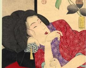 Yoshitoshi, Soñolienta, 1888