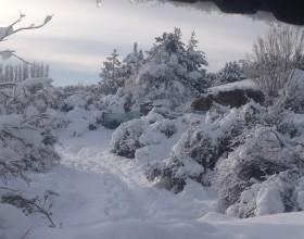 Nieve en la Patagonia
