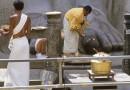 Shravanabelagola, Karnataka, India. Foto Mauricio Tolosa, 1983