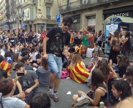 Manifestaciones Cataluña. Fotografía de Patricia Moscoso.