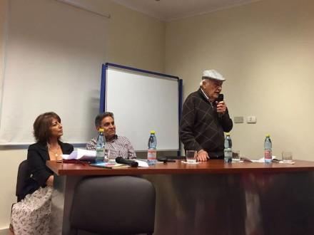 María Alicia Pino, Patricio Alarcón y Luis Weinstein.